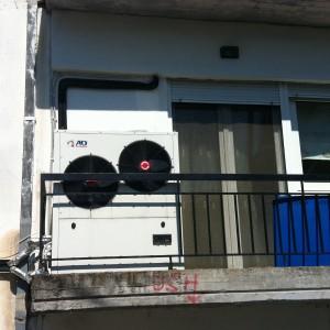 Αντλίες θερμότητας χαμηλών θερμοκρασιών εγκατεστημένες σε καλοριφέρ στα Γρεβενά