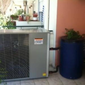 Αντλίες θερμότητας υψηλών θερμοκρασιών POLARIS 13 ΚW στην Αλεξάνδρεια (εγκαταστάτης Κ. Έγγερς)