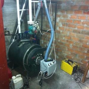 Καυστήρας πέλλετ B-ECO σε λέβητα πετρελαίου στη Χάλκη Λάρισας