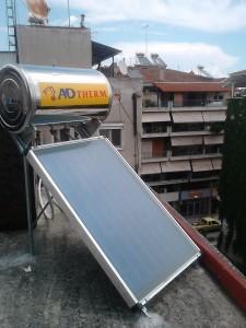 Ηλιακός θερμοσίφωνας 120 λίτρων στην Κατερίνη
