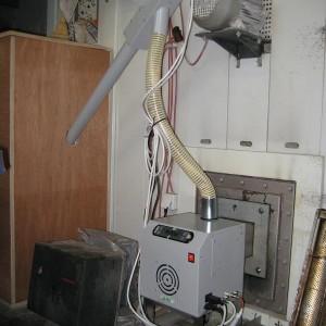 Αντικατάσταση καυστήρα πετρελαίου με πέλλετ σε φούρνο στις Ράχες Φθιώτιδας (εγκαταστάτης Ηλίας Καρέλης)