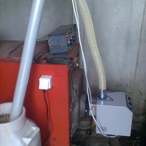 Μετατροπή μαντεμένιου λέβητα πετρελαίου με καυστήρα πέλλετ στην Κατερίνη (Κώστας Παπαγιανόπουλος)
