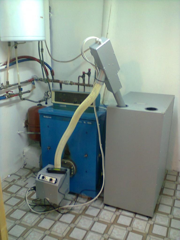 Καυστήρας πέλλετ σε λέβητα πετρελαίου