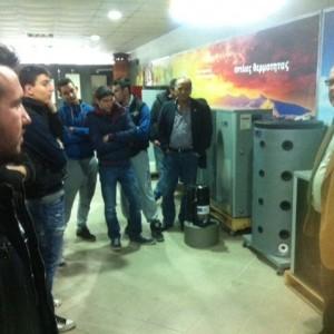 Επίσκεψη του τμήματος θερμουδραυλικών του ΟΑΕΔ Κατερίνης στις εγκαταστάσεις της ADTHERM