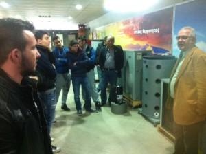 Επίσκεψη του τμήματος θερμουδραυλικών του ΟΑΕΔ