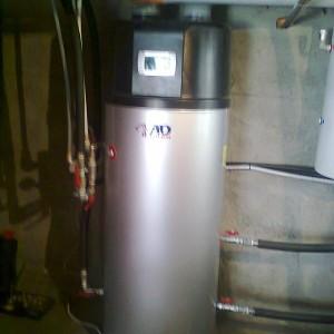 Μπόιλερ με αντλία θερμότητας για ζεστά νερά χρήσης στους Ν. Πόρους Πιερίας