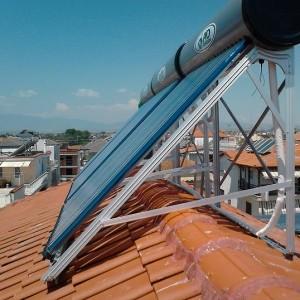 Παραγωγή ζεστού νερού χρήσης με ηλιακούς κενού σε ξενοδοχείο στην Παραλία Κατερίνης