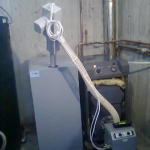 Καυστήρας πέλλετ σε μαντεμένιο λέβητα πετρελαίου στη Νέα Έφεσσο Πιερίας