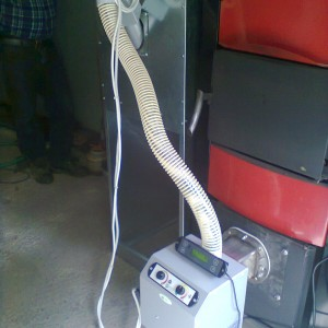 Εγκατάσταση καυστήρα πέλλετ σε λέβητα ξύλου στο Λιτόχωρο Πιερίας (Δ. Πούλιος)
