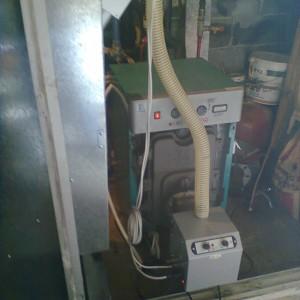 Προσαρμογή καυστήρα pellet σε λέβητα πετρελαίου στον Κορινό Πιερίας (Β. Συρανίδης)