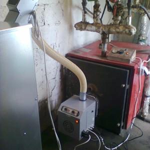 Καυστήρας βιομάζας - πέλλετ στον Κορινό Πιερίας (Κώστας Κούτρας)