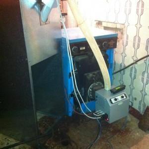 Καυστήρας πέλλετ Β-ECO σε λέβητα πετρελαίου στην Κατερίνη (Βασίλης Παπαζήσης)