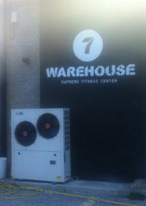 Αντλία θερμότητας για παραγωγή ζεστού νερού χρήσης σε γυμναστήριο