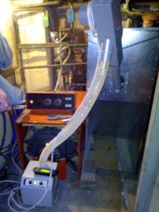 Καυστήρας πέλλετ σε μαντεμένιο λέβητα πετρελαίου