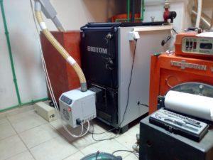 Καυστήρας για πέλλετ και κουκούτσια ελιάς στη Χαλκιδική