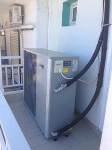 Αντλία θερμότητας σε ξενοδοχείο Ζέφυρος στην Παραλία